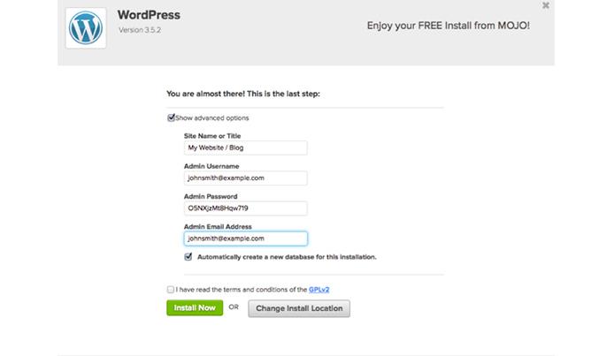 wordpress-install-create-blog-tutorial-free
